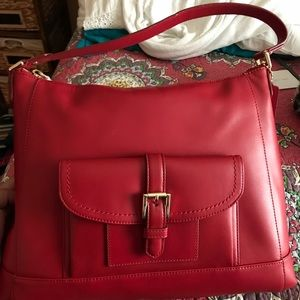 Brand new red coach purse